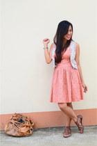 light orange floral dress - sky blue floral true love vest