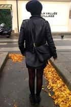 vintage hat - River Island boots - Levis jacket - vintage shirt - Zara bag
