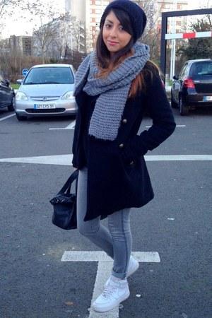 Zara bag - Naf Naf coat - asos jeans - La Redoute scarf - Zara jumper