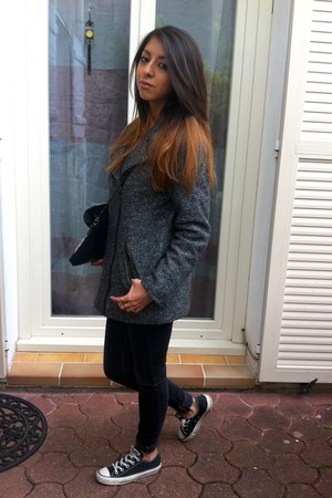 Monki jacket - Levis jeans - Stradivarius bag - pull&bear jumper