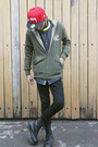 Dark-gray-denim-debenhams-shirt-black-leather-dr-martens-boots