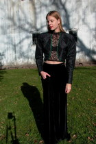 black silk w- beading fair season jacket