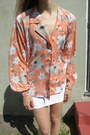 Coral Poly Fair Season Blouses
