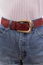 brick red suede fair season belt