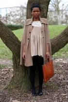 Violette Tannenbaum dress - vintage bag - Zara cape - carrefour loafers