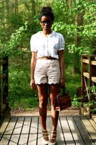 Chloe shoes - vintage bag - Violette Tannenbaum shorts - vintage blouse