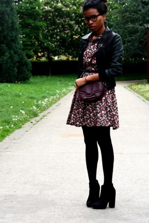 asos shoes - Violette Tannenbaum dress - vintage bag - vintage vest