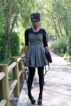 Violette Tannenbaum dress - black Jessica Simpson shoes - vintage bag