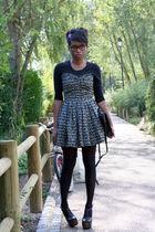 Violette Tannenbaum dress - black Jessica Simpson shoes - vintage bag