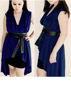 black leather kimono Bershka belt - black basic Costa Blanca dress