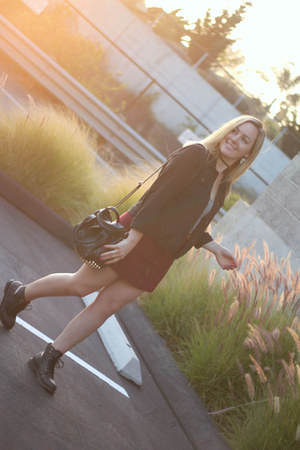 brandy melville bag - Forever 21 boots - abercrombie and fitch jacket