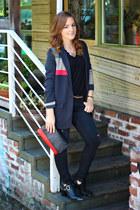 codes combine blazer - leather shoemint boots - jeans H&M jeans