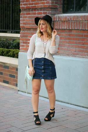 Topshop skirt - brandy melville sweater - Rebecca Minkoff bag