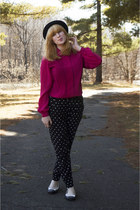 modcloth hat - black polka dot Forever 21 pants