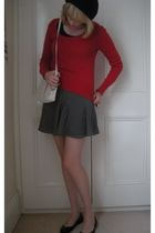 vintage sweater - portmans skirt - portmans - vintage - Nine West shoes