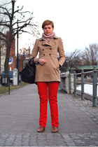 H&M coat - H&M scarf - Frank Q pants