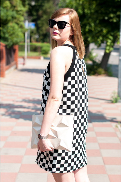 white Zara dress - white Zara bag
