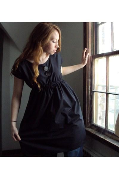 black fancy clothing dress