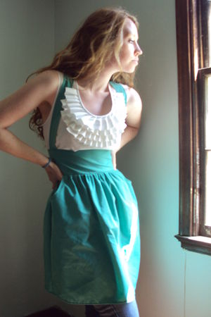 green fancy clothing dress - white fancy clothing shirt