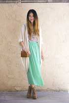 aquamarine American Apparel skirt - tawny Urban Outfitters bag