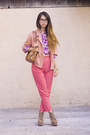 Bubble-gum-american-apparel-jacket-hot-pink-american-apparel-pants
