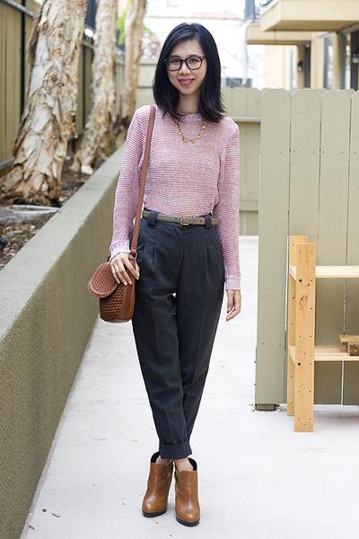 Cheap Monday sweater - sam edelman boots - American Apparel pants