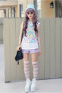 White-yru-shoes-light-blue-thank-you-mart-hat-white-jac-vanek-shirt