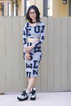 Topshop top - Topshop skirt - UNIF sneakers
