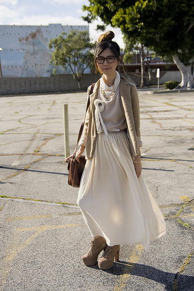 beige Urban Outfitters sweater - tan Urban Outfitters blazer
