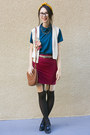 Beige-american-apparel-vest-teal-american-apparel-blouse