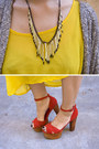 Red-jeffrey-campbell-heels-yellow-american-apparel-dress