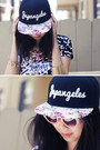 Black-japangeles-hat-bubble-gum-unif-shoes-black-unknown-bag