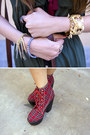 Red-jeffrey-campbell-wedges-green-urban-outfitters-dress