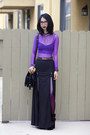 Black-unknown-bag-purple-american-apparel-top-black-shown-to-scale-skirt