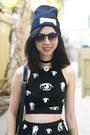 Black-glitter-bandits-skirt-black-glitter-bandits-hat
