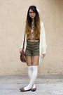 Army-green-american-apparel-shorts-ivory-american-apparel-socks
