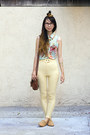 Light-orange-american-apparel-shoes-cream-american-apparel-pants