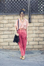 Black-unknown-bag-nude-american-apparel-belt-light-pink-american-apparel-top