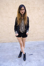 Black-urban-outfitters-blazer-black-urban-outfitters-shorts