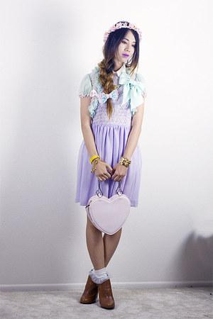 light purple American Apparel dress