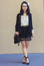 Black-urban-outfitters-blazer-black-nasty-gal-skirt