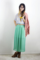 aquamarine American Apparel skirt - pink American Apparel jacket