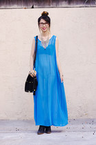 blue American Apparel dress