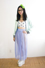 Aquamarine-lds-jacket-periwinkle-american-apparel-skirt-white-clumsy-cat-top