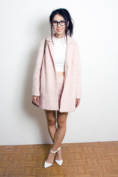 Light Pink Topshop Coats, Light Pink Topshop Skirts, White Urban ...