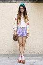 Dark-brown-urban-outfitters-bag-light-purple-minkpink-shorts