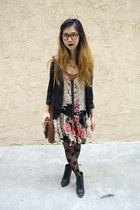 black Urban Outfitters dress - black Urban Outfitters blazer