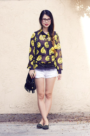 black joyrich top - black asos shoes - black unknown bag