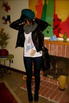 black Silence & Noise jacket - blue BDG jeans - black deux lux purse - black LF