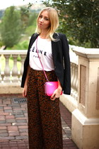 Zara blazer - Zara bag - Solilor t-shirt - Forever 21 pants